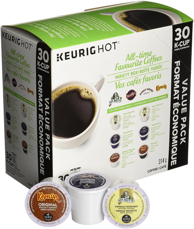 keurig alltime favorite coffees variety box kcup single serve kcup pods for keurig brewers 30 count amazonca grocery u0026 gourmet food - Keurig K Cup
