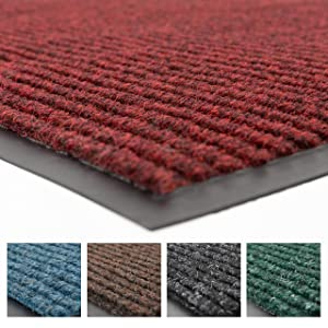 Notrax 109 Brush Step Entrance Mat, for Home or Office, 3' X 4' Red/Black