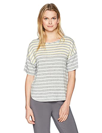 741146cdd08 kensie Women s Striped Lounge Tee at Amazon Women s Clothing store
