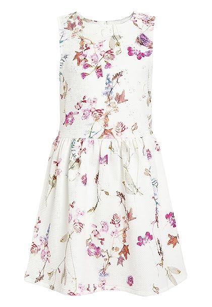 next Niñas Vestido Floral De Punto Roma (3-16 Años) Blanco 16 años