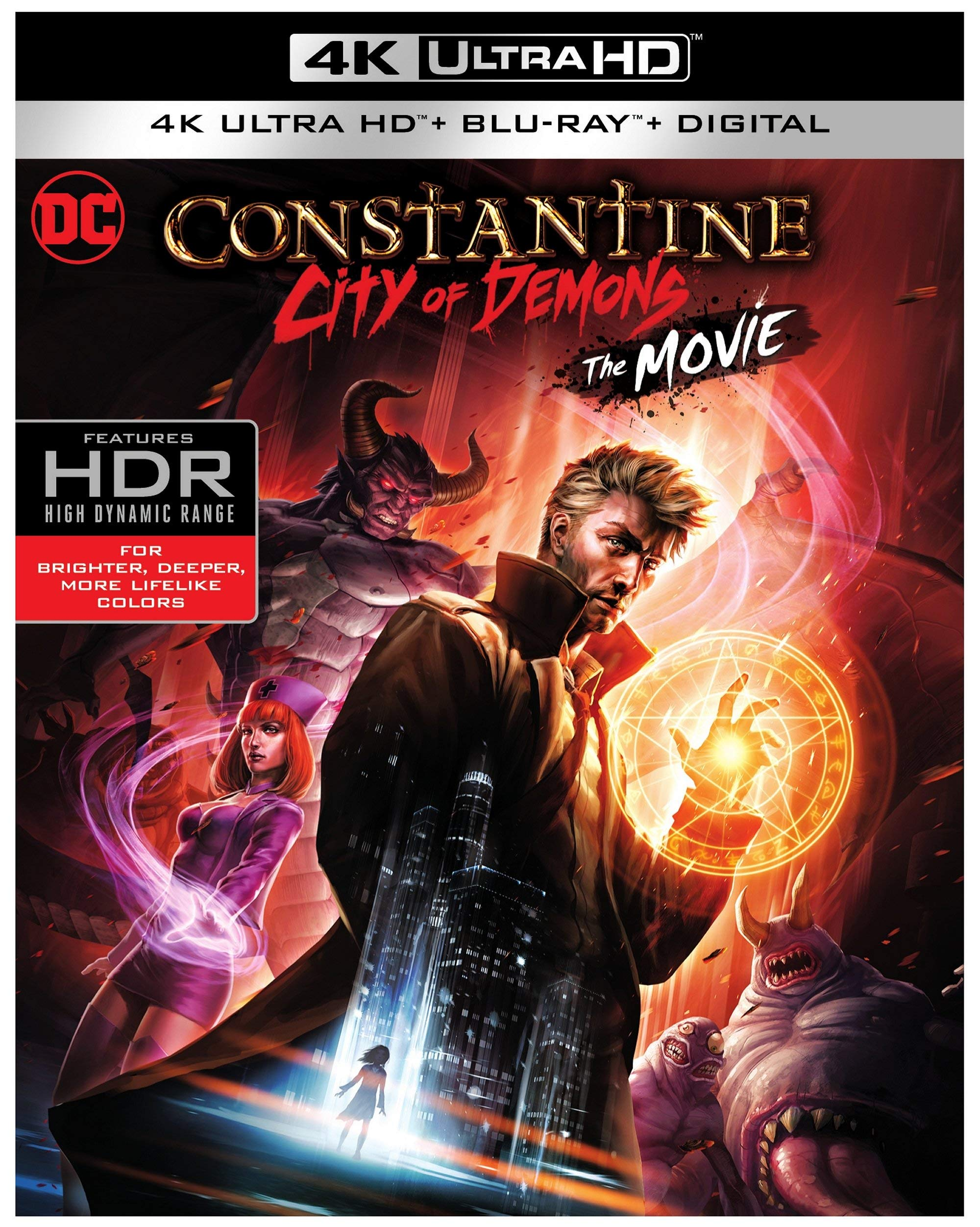 4K Blu-ray : Constantine: City Of Demons: The Movie (dc) (With Blu-ray, 4K Mastering, 2 Pack, Digital Copy, Digital Theater System)