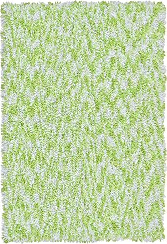 Shagadelic Chenille Twist Swirl Rug, 4 by 6-Feet, Green