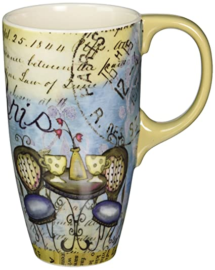 d8f7a8a0509 Amazon.com | Lang Cafe Paris Latte Mug, 18 oz. (5036250): Paris Coffee Mug: Coffee  Cups & Mugs