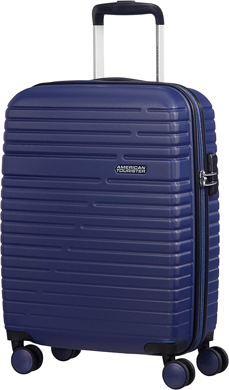 American Tourister Aero Racer Spinner 55 - 2,5 Kg Equipaje de mano, 37 liters, Azul (Nocturne Blue)