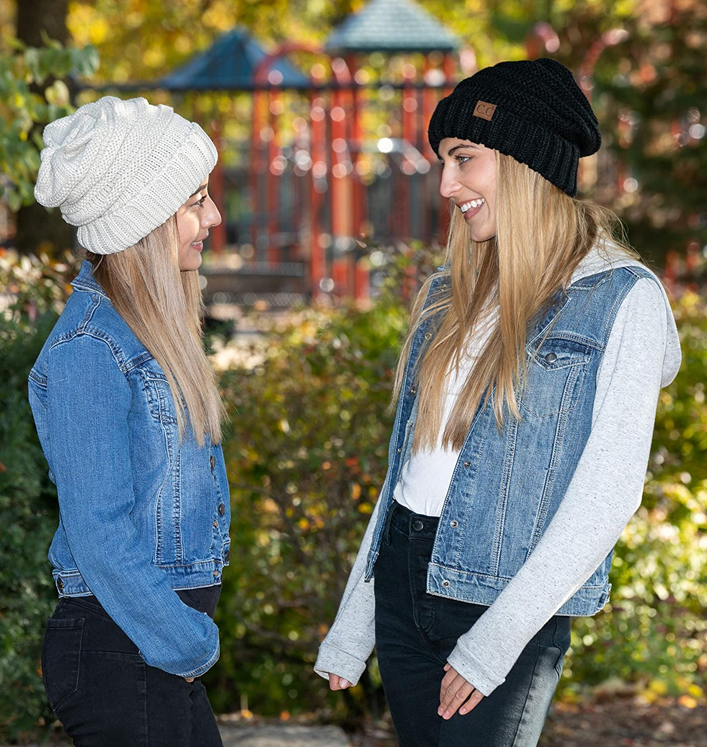BeautyFaves Fleece Lined Soft and Thick Sparkling Sequin Fashion Winter Beanie