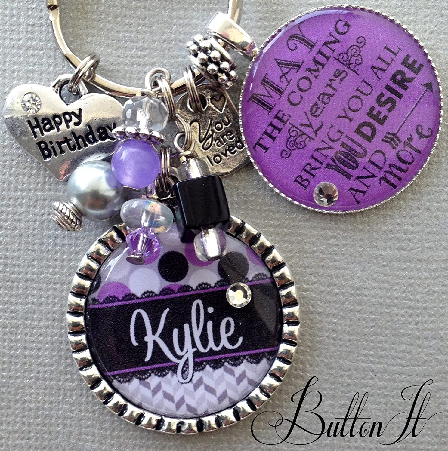 Happy Birthday Sweet 16 Key Chain Personalized Gift Daughter Never Drive Faster Than Guardian Angel Can Fly 16th For
