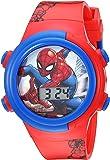 Marvel Boys' Quartz Watch with Plastic Strap, red, 16.5 (Model: SPD4480)