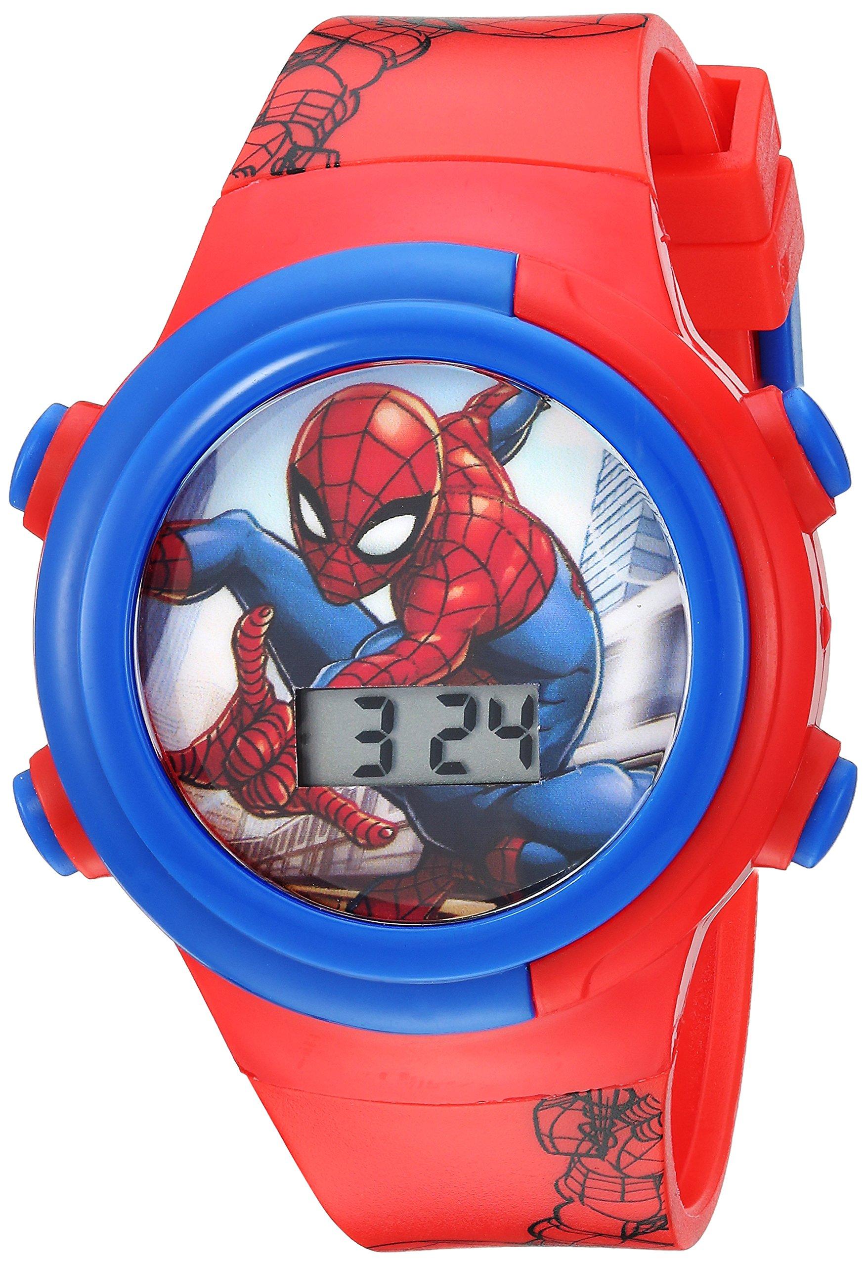 Marvel Boys' Quartz Watch with Plastic Strap, red, 16.5 (Model: SPD4480) by Marvel