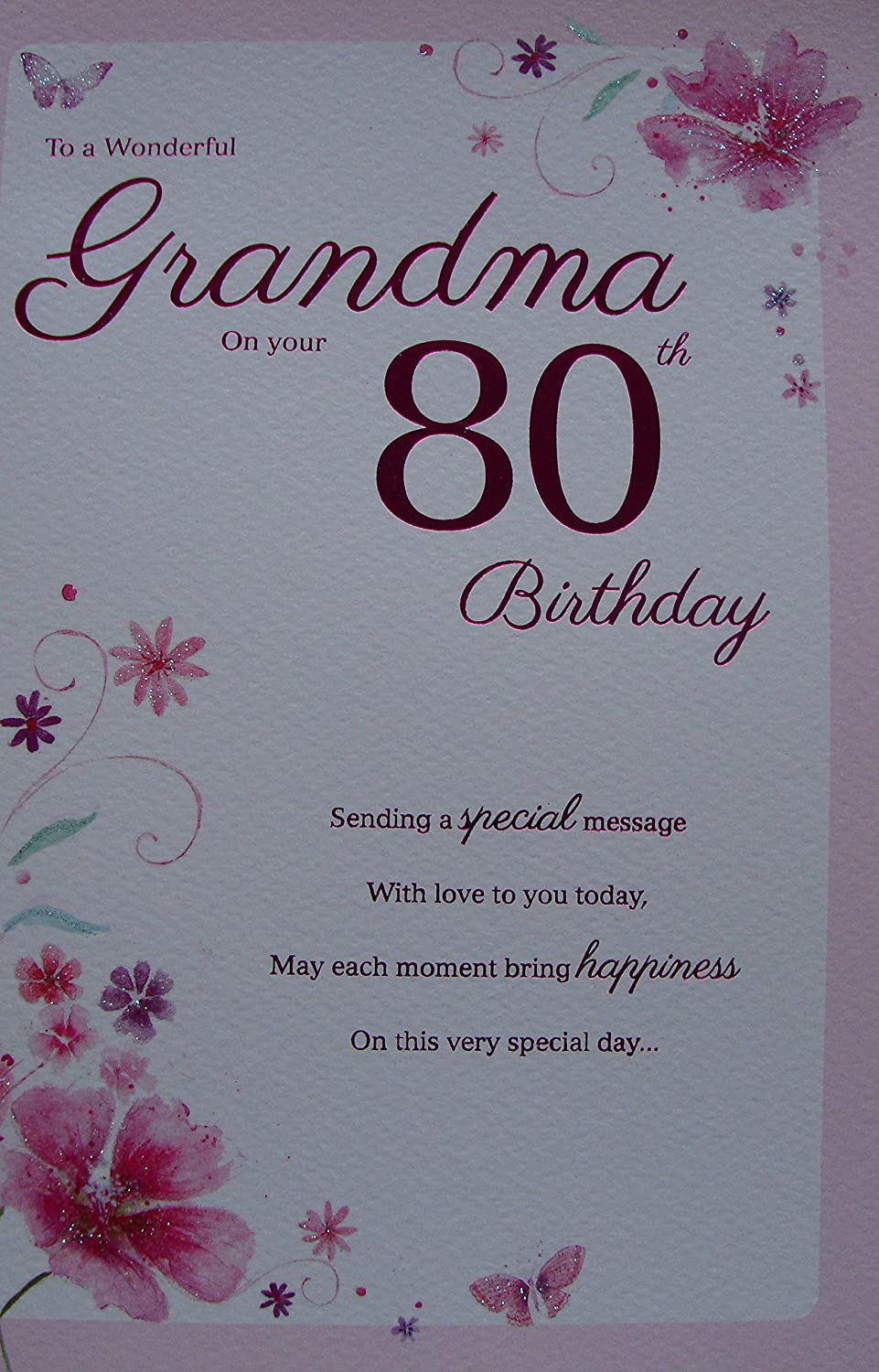 Special grandma 80th birthday card amazon kitchen home bookmarktalkfo Image collections