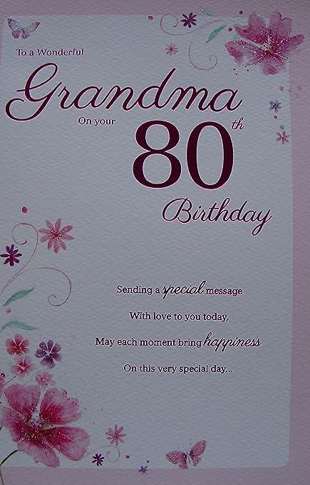 Amazon.com: Especial Abuela 80th tarjeta de cumpleaños: Beauty