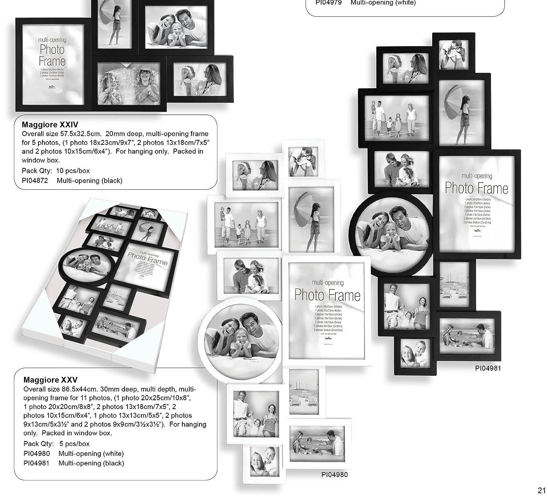 Innova Fotorahmen Collage (4980) MAGGIORE XXV Weiß - Für 11 Fotos ...