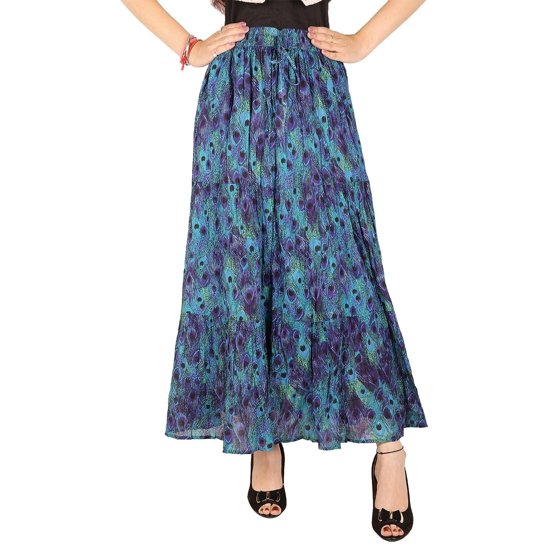 COTTON BREEZE Women's Cotton Skirt (Multicolor_Free Size)