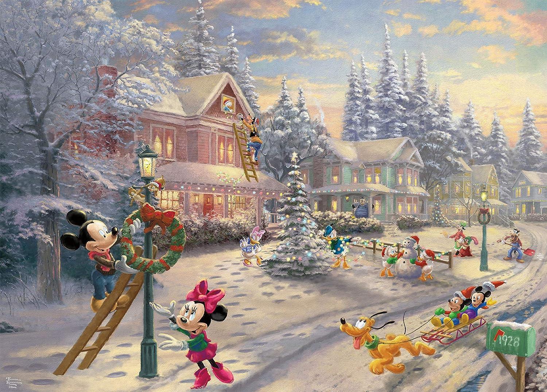 Ceaco Thomas Kinkade Mickey'S Victorian Christmas Puzzle - 1000Piece