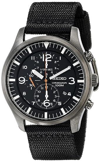 Seiko Mens SNDA65 Chronograph Strap Watch
