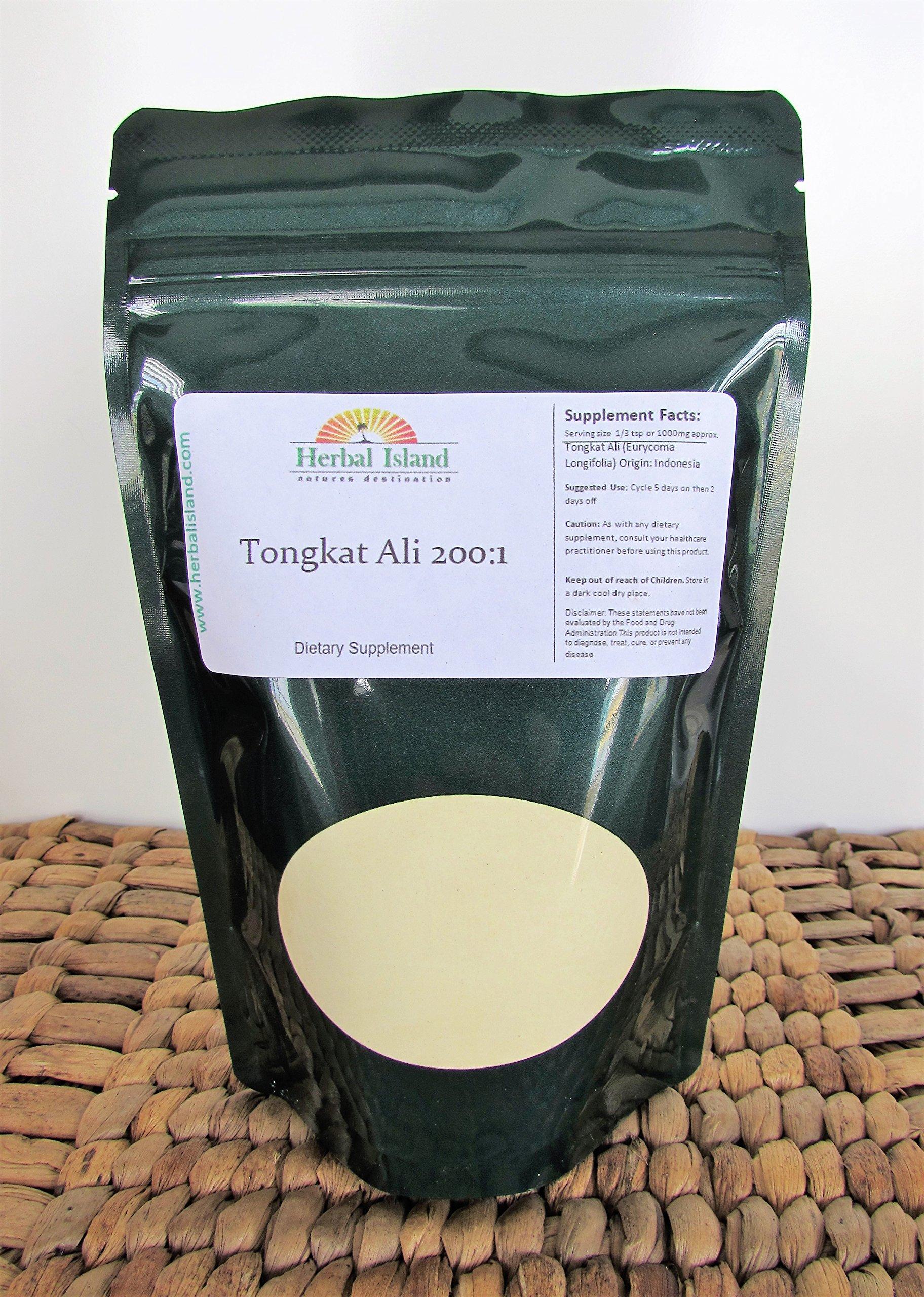 Tongkat Ali 200:1 Root Extract Powder 1 LB or 16 OZ (Eurycoma longifolia Jack) with Free Shipping