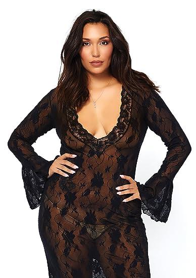 Amazoncom Leg Avenue Sexy Plus Size Lingerie Dress Clothing