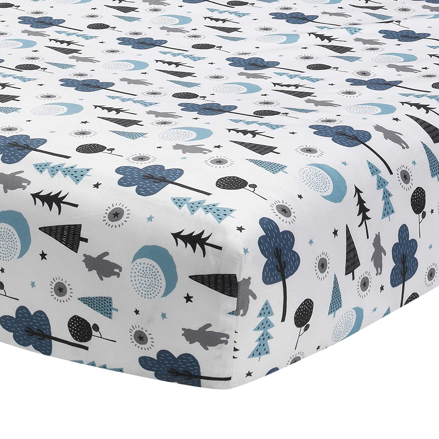 Lambs & Ivy Forever Pooh Fitted Crib Sheet, Multicolor