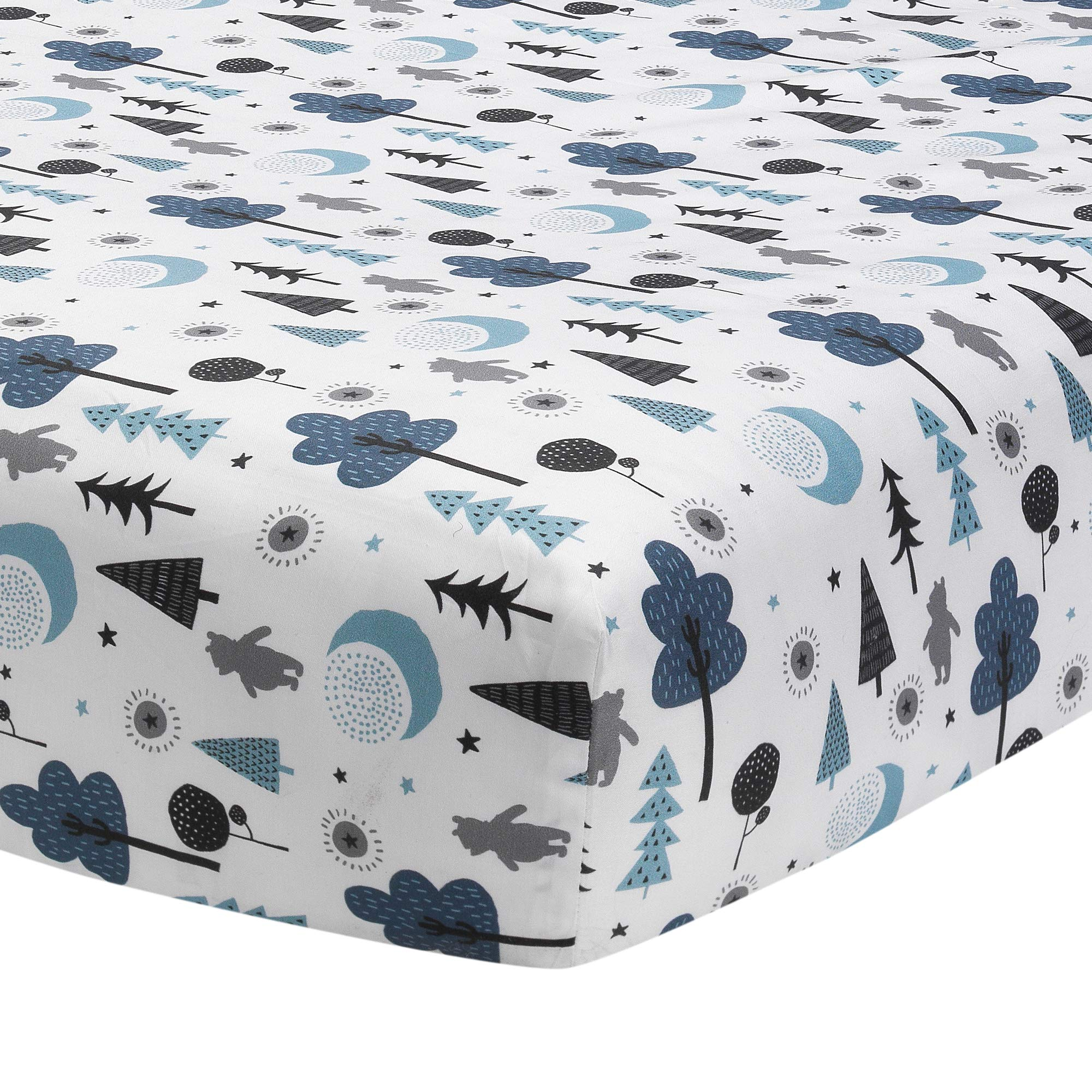 Lambs & Ivy Forever Pooh 3Piece Baby Crib Bedding Set, Blue by Lambs & Ivy (Image #5)