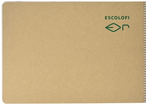 0115359420 escolofi 130047100 – Quaderno a spirale Blocco di carta riciclata ecologico,  A4