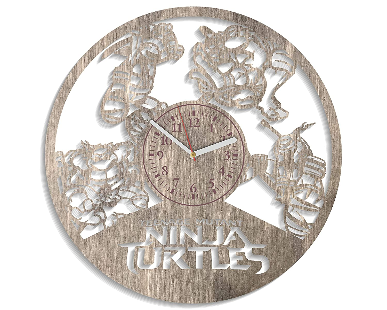 Amazon.com: NadezhdaShop TNMT Wooden Clock for Boys Ninja ...