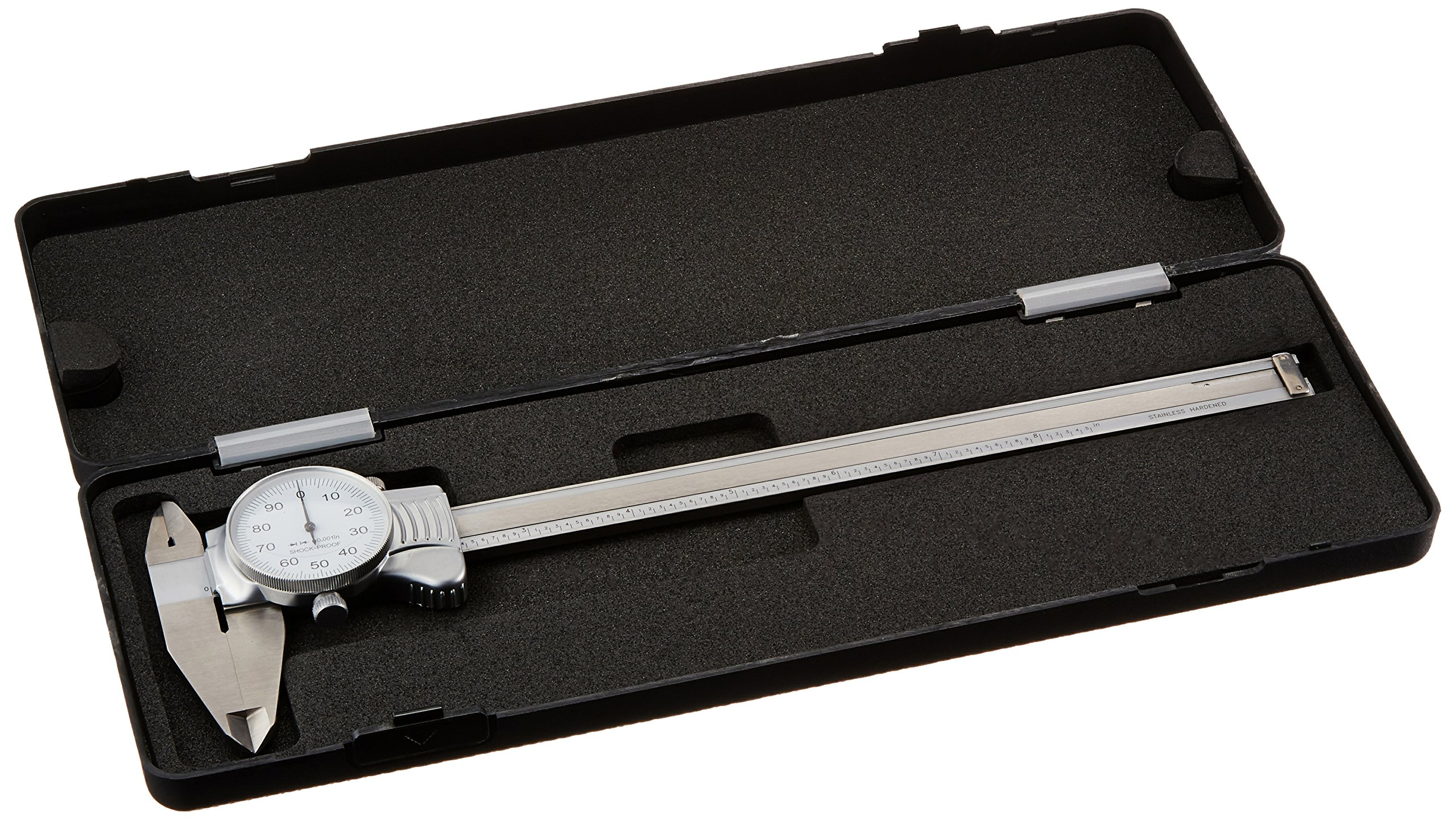 8'' Machine-DRO dial caliper with white face.