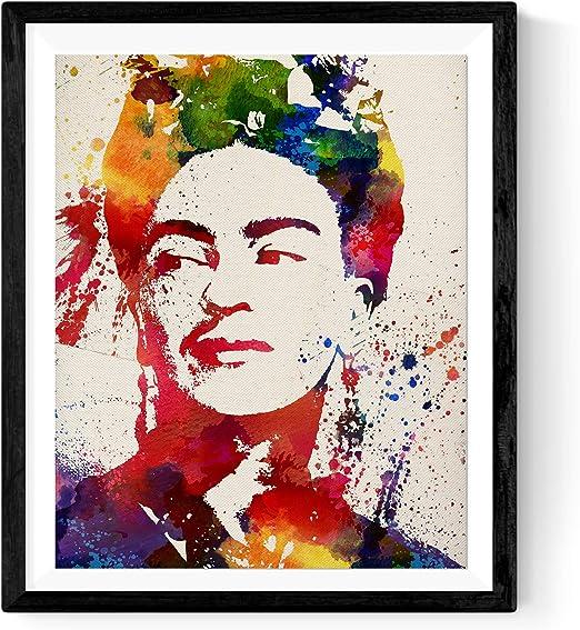 Nacnic Lámina para enmarcar Frida Kahlo Estilo Acuarela. Poster ...