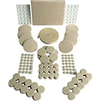 Paquete de 241almohadillas de fieltro autoadhesivas color beige
