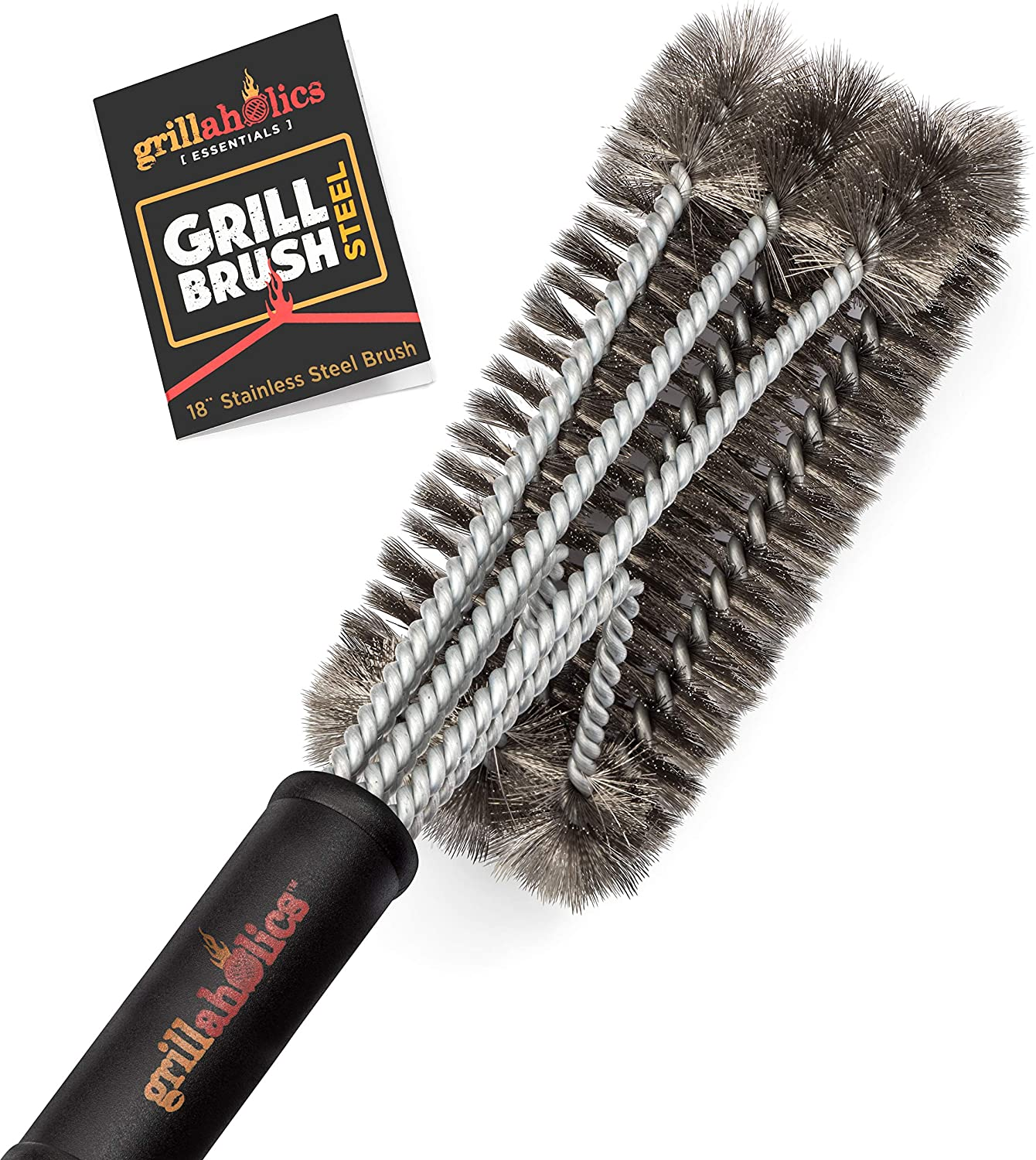 Grillaholics Essentials Grill Brush Steel