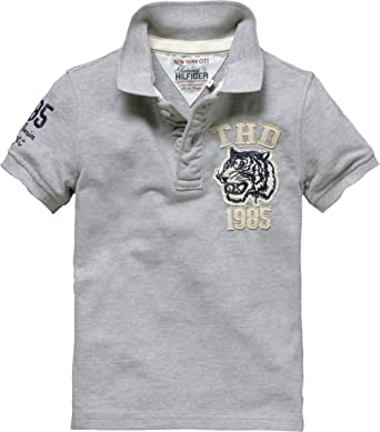 8be431ed0 Tommy Hilfiger Boys Pilot Badge Polo S/S Polo Shirt E557104844 - Grey - 16  Years: Amazon.co.uk: Clothing