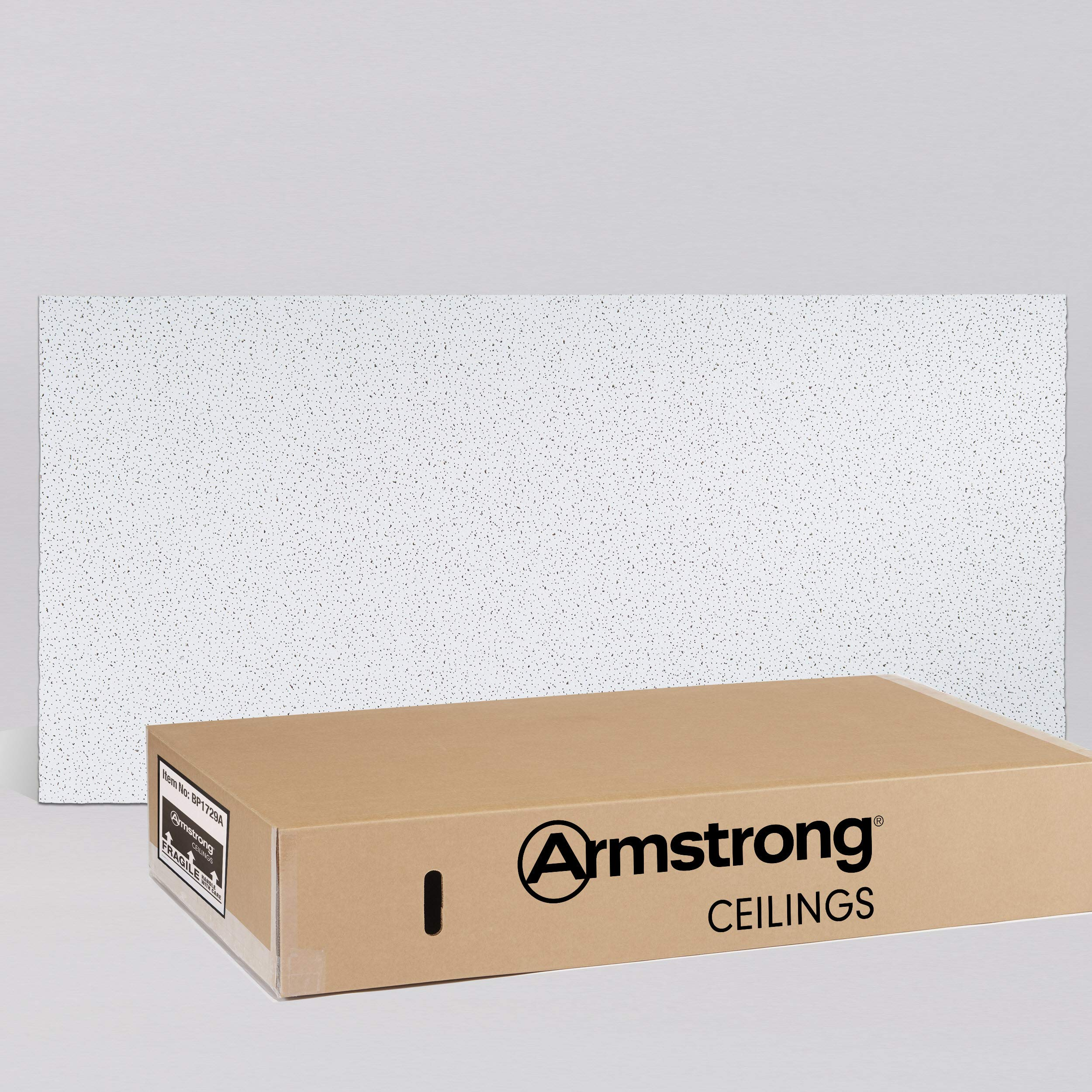 Armstrong Ceiling Tiles; 2x4 Ceiling Tiles - HUMIGUARD Plus Acoustic Ceilings for Suspended Ceiling Grid; Drop Ceiling Tiles Direct from the Manufacturer; FINE FISSURED Item 1729 - 12 pc White Layin