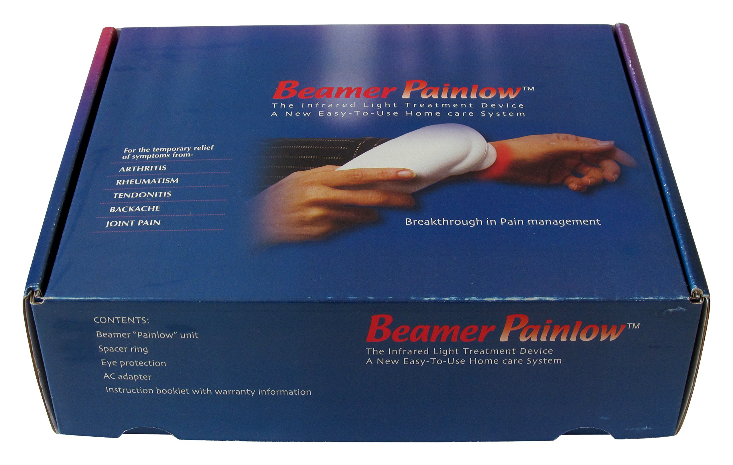 Beamer Painlow Infrared Treatment Rheumatic Pain Relief Light Therapy Chosen by sufferers of Knee, Back, Shoulder, Foot & Neck Pain, Arthritis, Neuropathy FDA Cleared.
