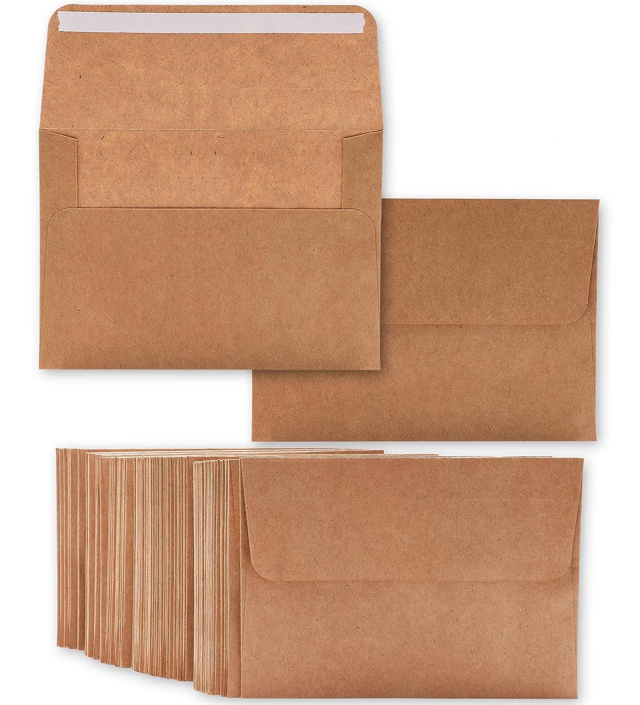 /10,7/x 15,7/c /Value Pack quadratisch Klappe Briefumschl/äge/ 50/St/ück braun Kraftpapier A4/Umschl/äge f/ür 4/x 6/Note Karten Gru/ßkarten und Einladung Ank/ündigungen/