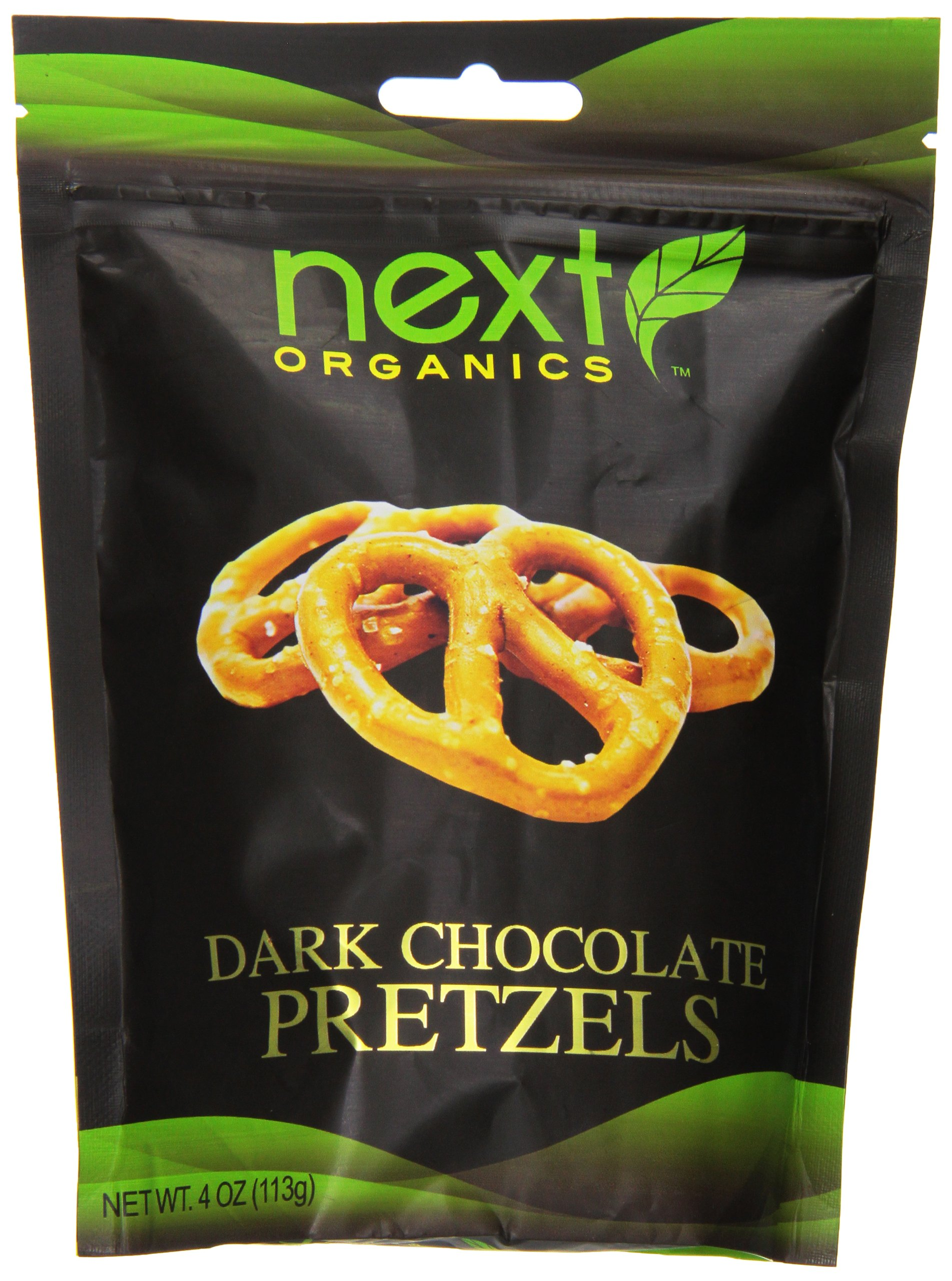 Next Organics Dark Chocolate Covered Pretzels, 4 Ounce by Next Organics