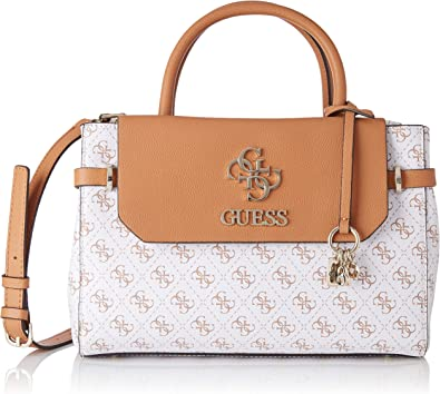 Guess Esme Girlfriend Satchel, Sac à bandoulière Femme, 12x24x32 Centimeters (W x H x L)