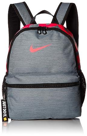 Nike Y NK BRSLA JDI Mini BKPK Mochila, Juventud Unisex, Cool Grey/Black/Racer Pink, One Size: Amazon.es: Deportes y aire libre