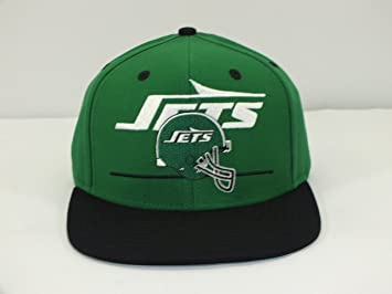 a23429c0701 Image Unavailable. Image not available for. Colour  NY JETS GREEN BLACK NFL  ADULT VINTAGE SNAPBACK CAP