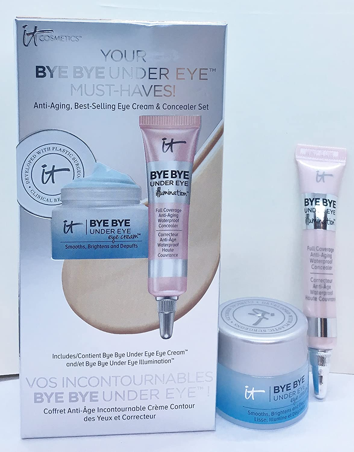 It Cosmetics Your Bye Bye Under Eye Must Haves Set Eye Cream & Illumination Concealer Shade Medium