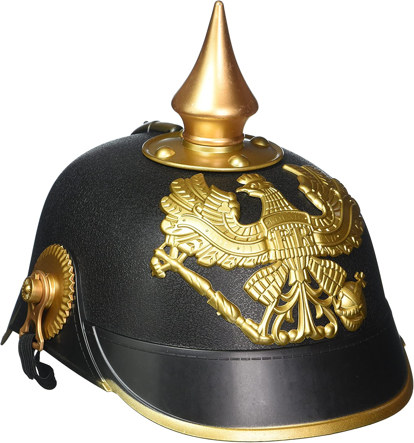 German Fancy Dress Hat Accessory Black /& Gold Men/'s Kaiser Helmet