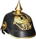 Forum Novelties - German Officer Pickelhaub Helmet, Black & Gold Colored