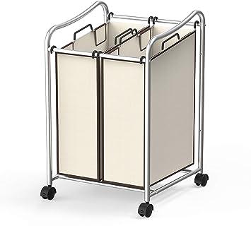 Amazon.com: Simple Houseware - Carrito de lavandería: Home ...