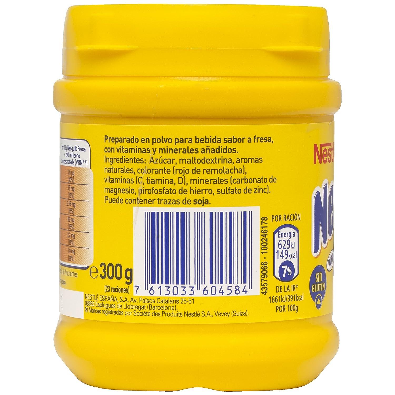 Nestlé - Nesquik Fresa Batido Instantáneo Bote, 300 g: Amazon.es: Alimentación y bebidas