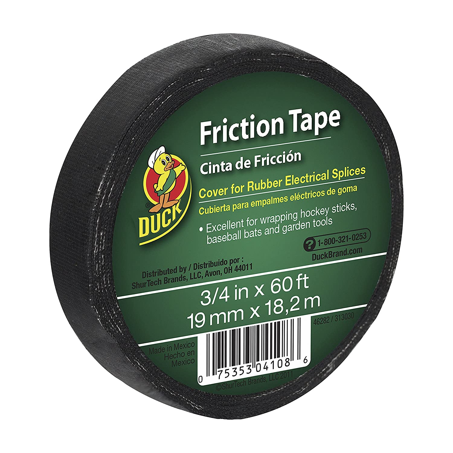 amazon com heat shrink tubing wiring connecting industrial duck brand 393150 friction tape 3 4 inch x 60 feet single roll black