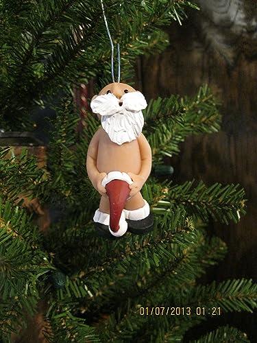 Naughty Naked Santa Claus Christmas Ornament with hat - Funny Naughty Naked  Mr Santa Claus Christmas - Amazon.com: Naughty Naked Santa Claus Christmas Ornament With Hat