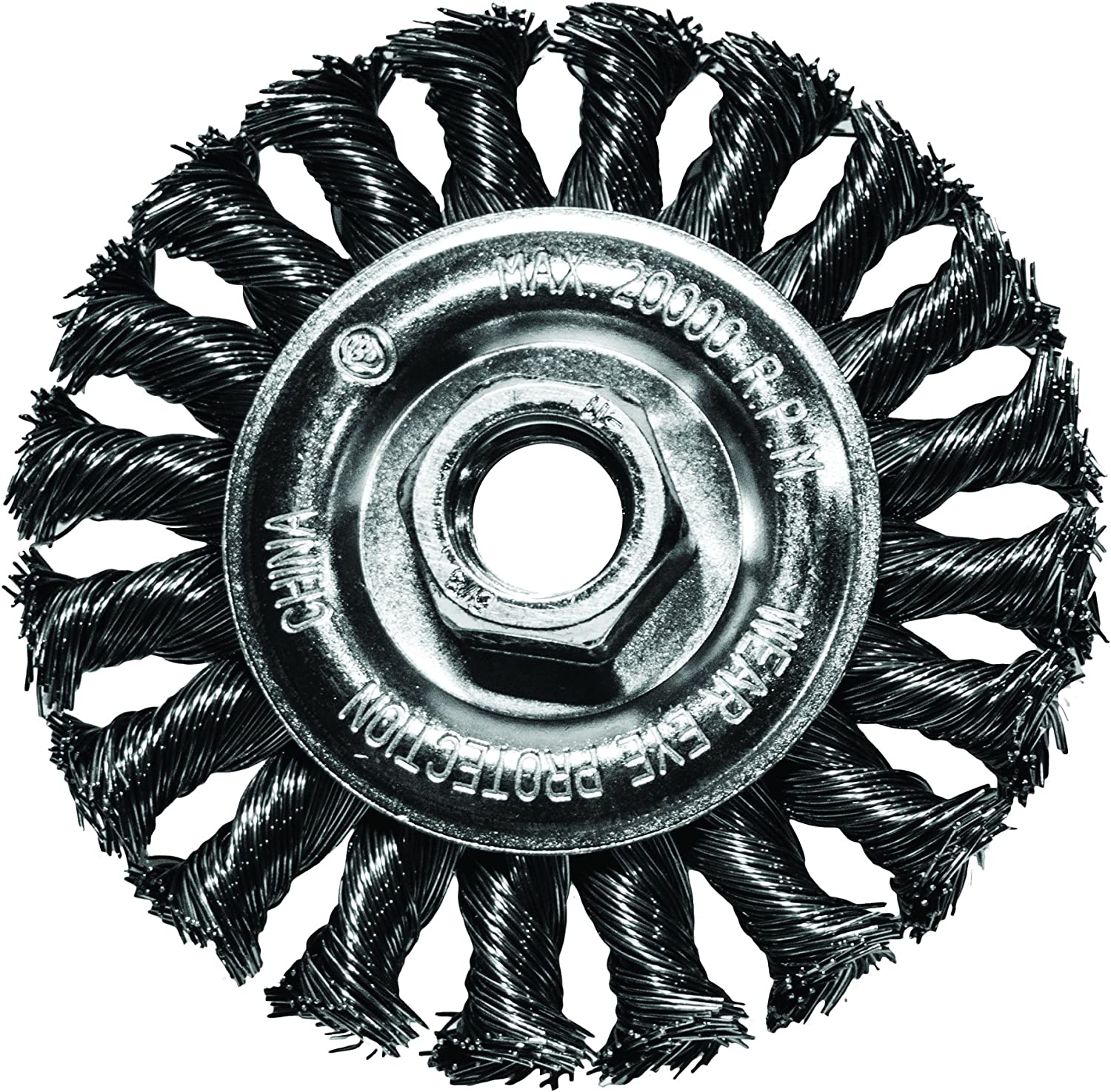 """Century Drill and Tool 76064 Industrial Wire Wheel Brush 6/"""" Case of 2"""
