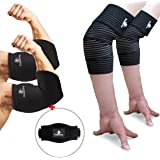 Elbow Sleeve Package (Pack of 5) - Elbow Compression Sleeve (1 Pair) & Elbow Wrap (1 Pair) with (1 Piece) Elbow Strap - Sleeve/Brace For Relief of Golfers, Tennis Elbow & Joint Tendonitis