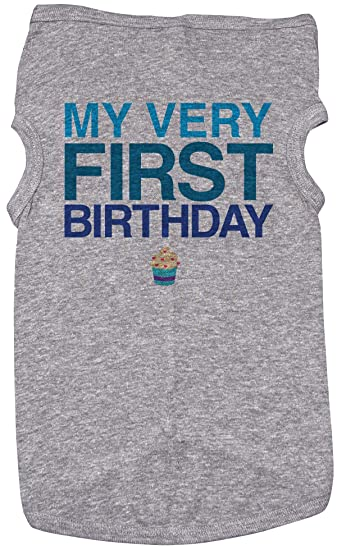 Baffle Birthday Shirt For Dogs My First Grey Puppy Tee 1st Year