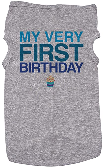 Amazon Baffle Birthday Shirt For Dogs My First Grey