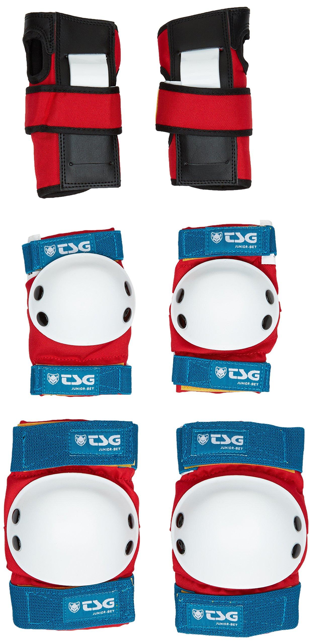 TSG - Junior-Set - Pads for Skateboard (red White Blue, one Size)