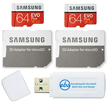 Samsung 64GB EVO Plus Tarjeta MicroSD (2 Paquetes EVO+) Clase 10 ...
