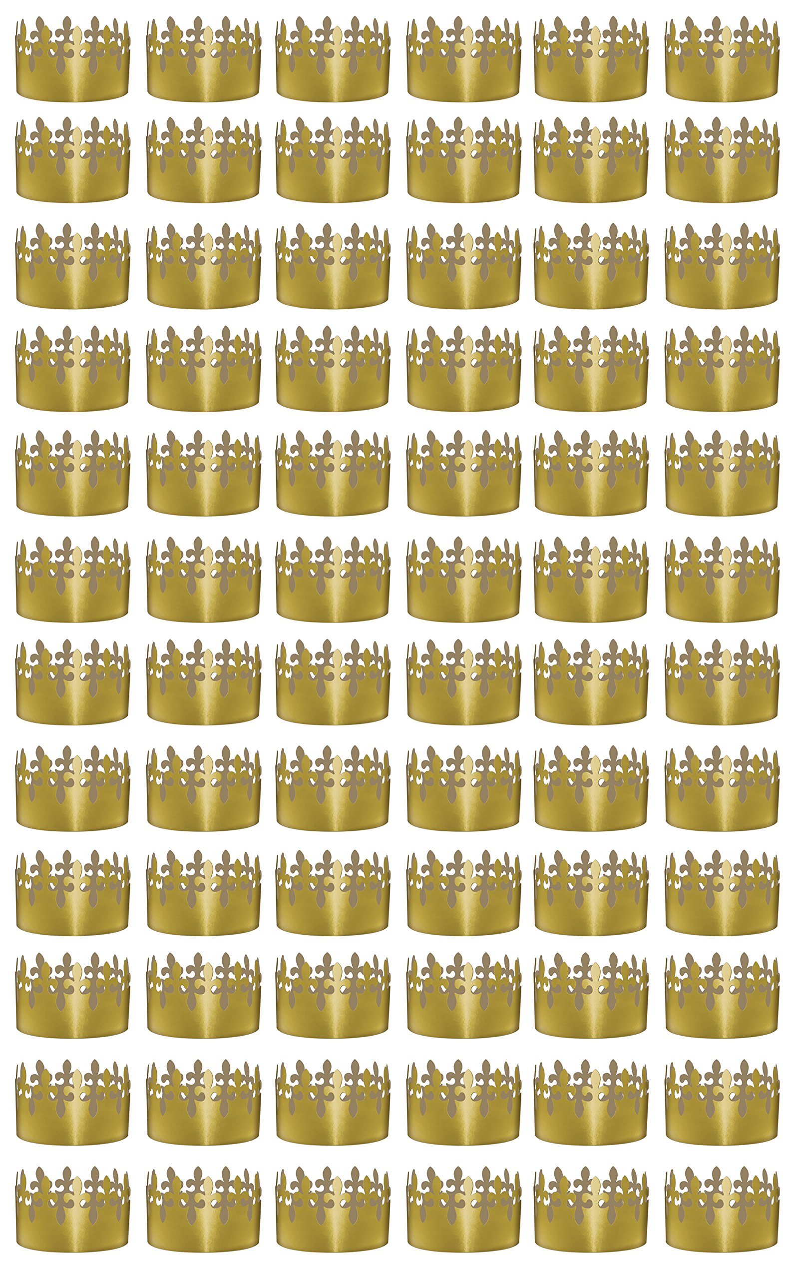 Beistle 66054 72-Pack Gold Foil Fleur De Lis Crowns